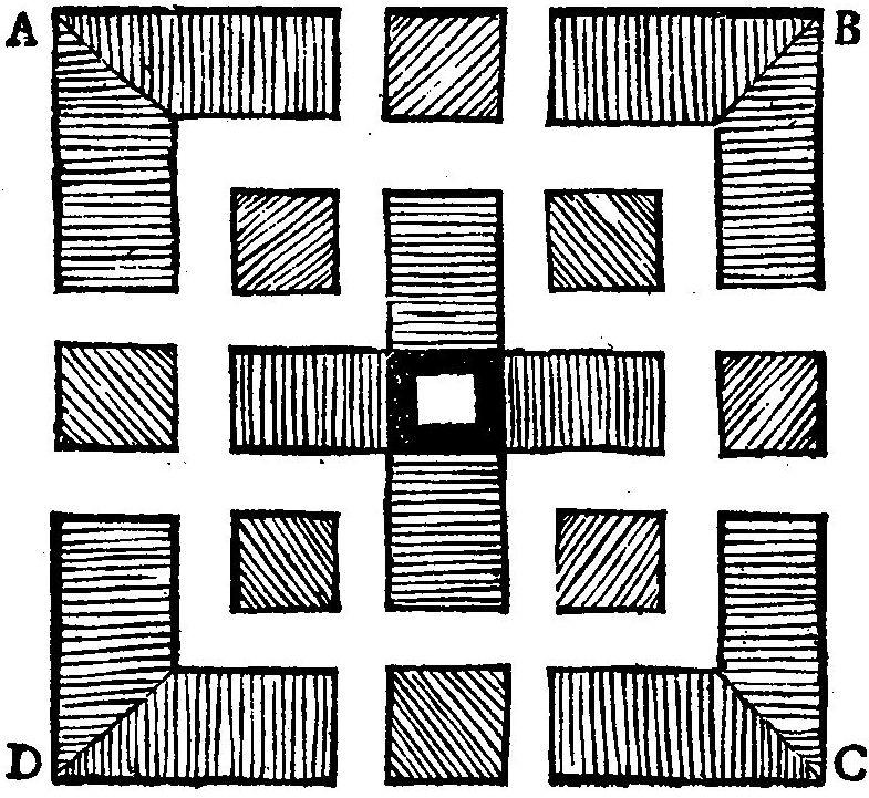 illustration av parterrmönster Horticultura Danica