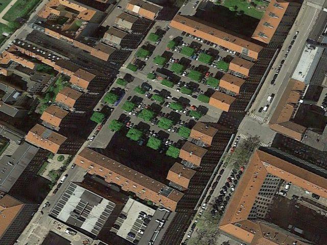 Dronningegården i Köpenhamn, flygfoto