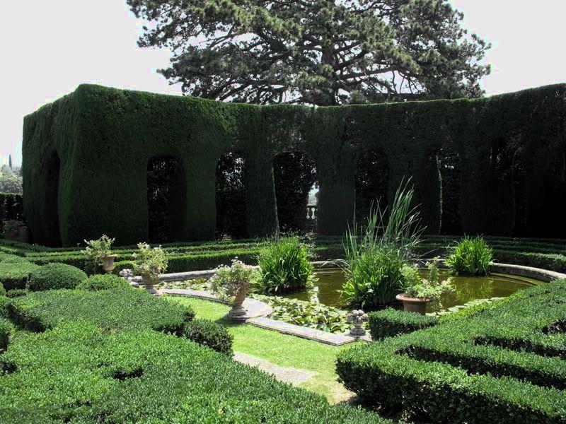 Villa Gamberaia, vattenparterren
