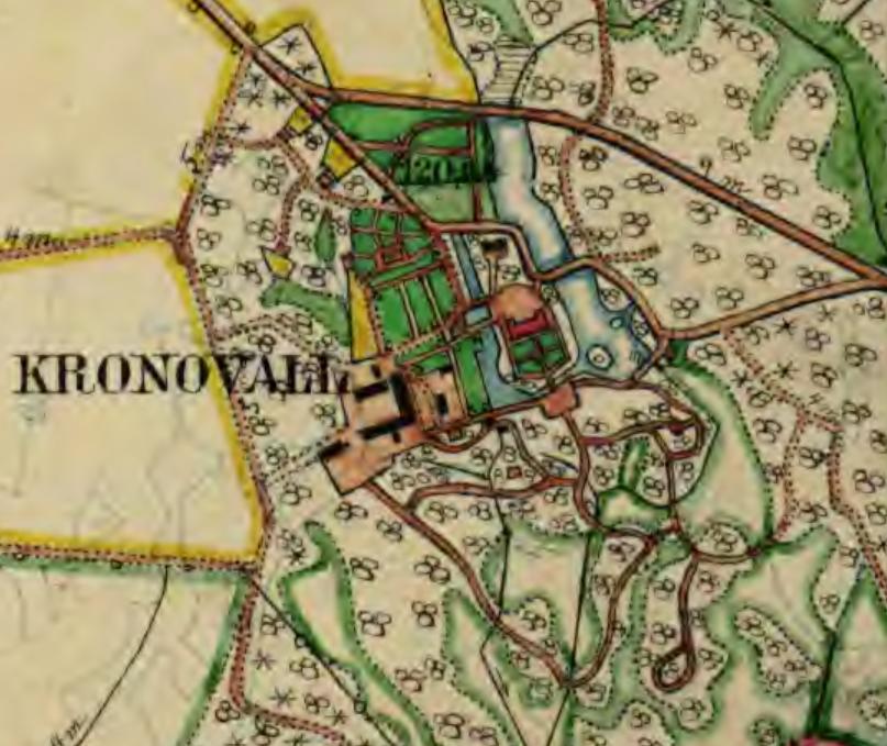 Kronovall häradsekonomiska kartan